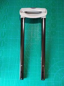 トパーズ52サイズ底ガード付き2輪トローリー用テレスコープハンドル