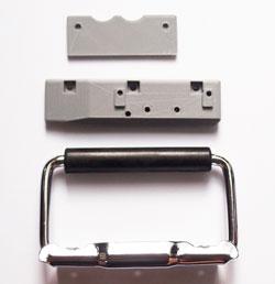 リモワ(RIMOWA)に使える部品 横引きリモワ用のプルダブハンドル代用品部品セット